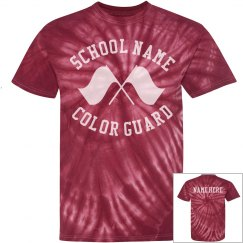 GROOVY! Color Guard Tie Dye Shirt for Summer Practices