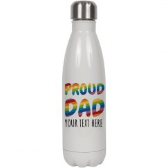 Proud Dad Custom Water Bottle