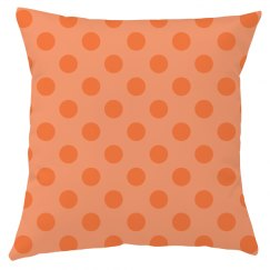 Orange Polka Dot Throw Pillow Cover