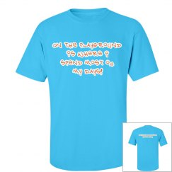 Blue/Orange Recess Crew Shirt