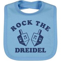 Hanukkah Dreidel Baby Bib