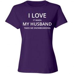 Love husband love snowboarding