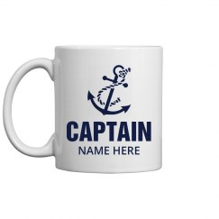 Captain Dad Gift Custom Name