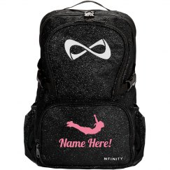 Personalize A Sparkly Cheer Bag With Your Name!