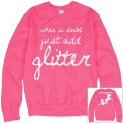 Just add glitter sweatshirt