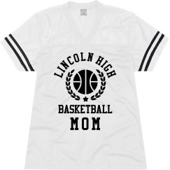 Custom School Basketball Mom Jersey