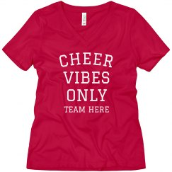 Cheer Vibes Only Boyfriend Tee