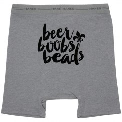 Beer Boobs And Beads Grey