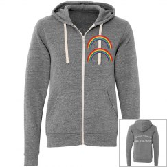 DOUBLE RAINBOW ZIP-UP