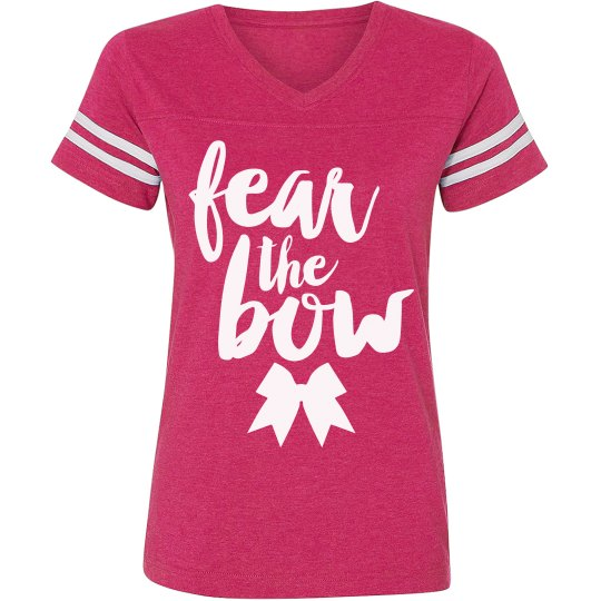 559f06cf6e Fear The Bow Cheer Shirt Ladies Relaxed Fit Vintage Sports T-Shirt
