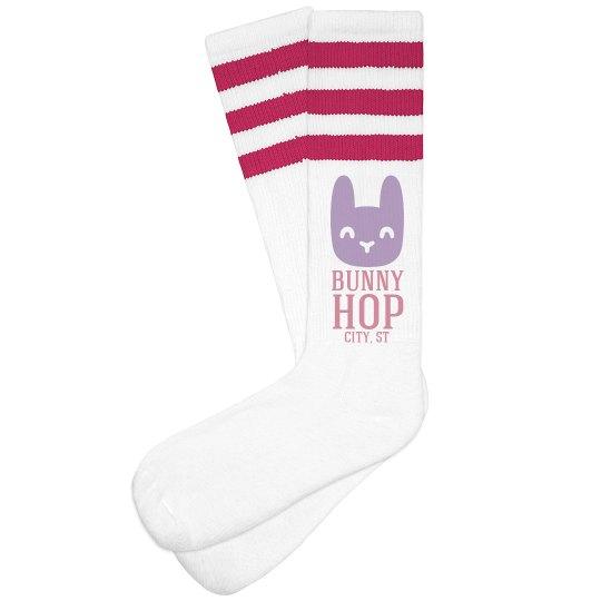 Easter Bunny Hop 5k Socks