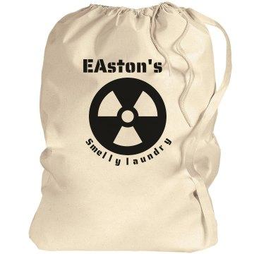 Easton's laundry bag