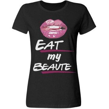 Eat my Beaute Tee-black