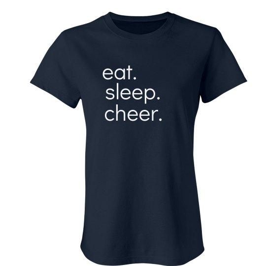 eat. sleep. cheer. tee