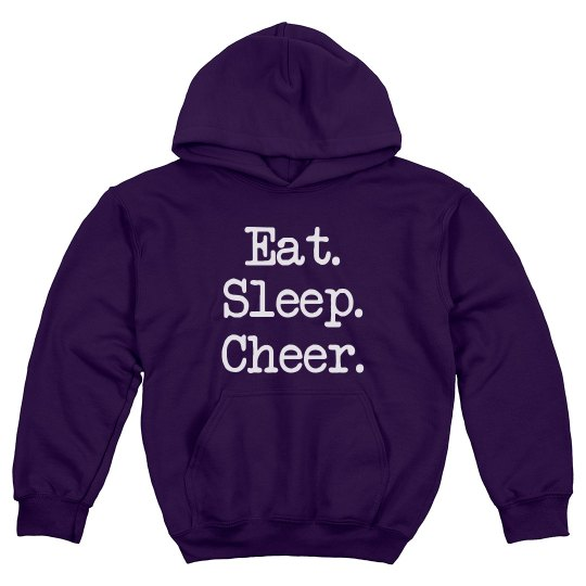 Eat Sleep Cheer Youth Hoodie