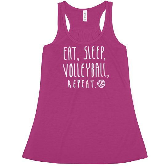 Eat, sleep, volleyball tank
