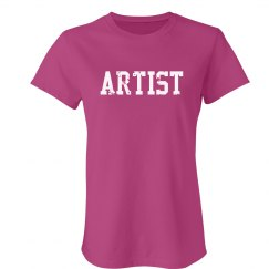 Artist Trendy Text T-Shirt