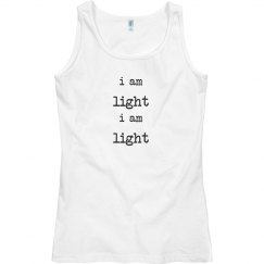 singlet top i am light