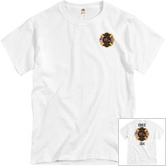 Fire Department Tee - White