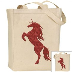 Red Fire Unicorn Bag