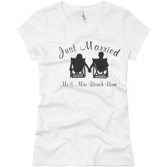 Just Married - Mr. & Mrs. Beach Bum Shirt