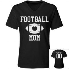 Football Mom Custom Fashion V-Necks