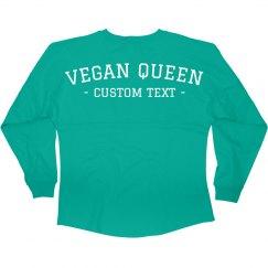 Custom Text The Vegan Queen