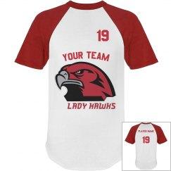 Lady Hawks Sports Jersey Template