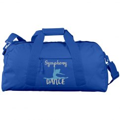 Blue with Blue and Silver Duffel