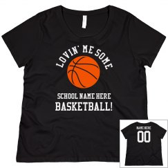 Custom Curvy Basketball Mom Tee