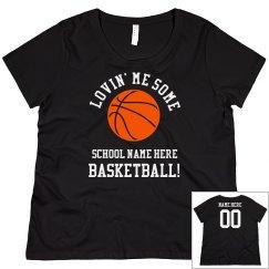 Custom Curvy Basketball Mom Tee