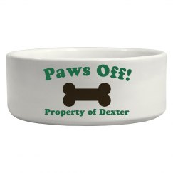 Paws Off Pet Bowl