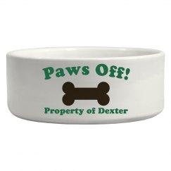Paws Off Pet Bowl