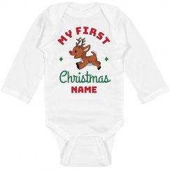 My First Christmas Custom Onesie