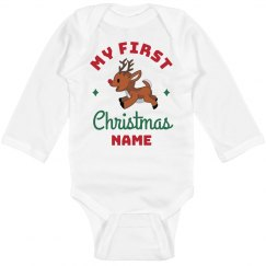 My First Christmas Custom Bodysuit