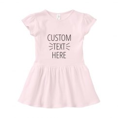 Custom Text Infant Dress