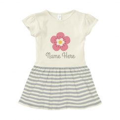 Custom Name Flower Infant Dress