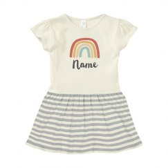 Name & Rainbow Baby Dress