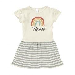 Name & Rainbow Baby Dress