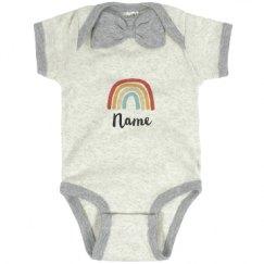 Infant Baby Rib Bow Tie Bodysuit