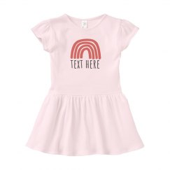 Custom Text Rainbow Baby dress