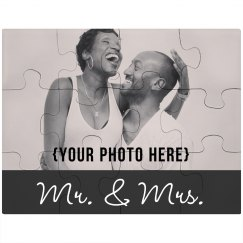 Custom Wedding Couple Photo Puzzle