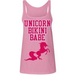 Unicorn Bikini Babe long tank