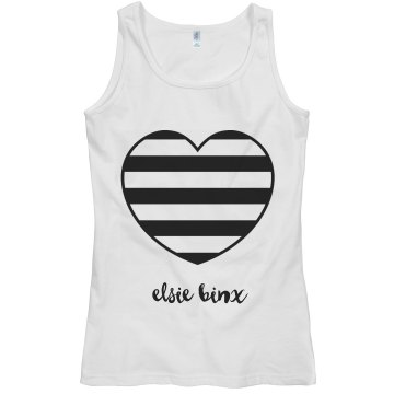 EBX Stripe Heart Tank