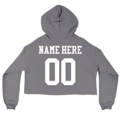 Personalized Name Here Crop Hoodie