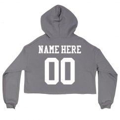 Personalized Name Here Crop Hoodie