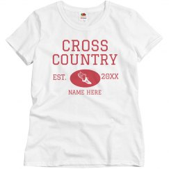 Customize Your Own Cross Country Tee