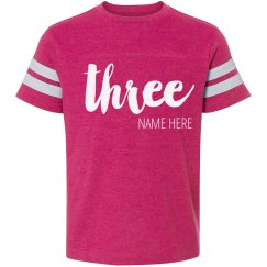 Custom 3rd Birthday Trendy Shirt
