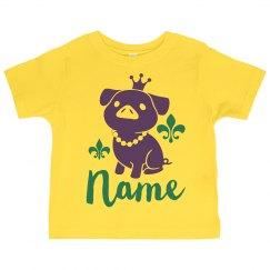 Cute Custom Name Toddler Mardi Gras