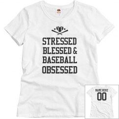 Custom Baseball Obsessed Mom